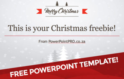 Free PowerPoint Template - Christmas design