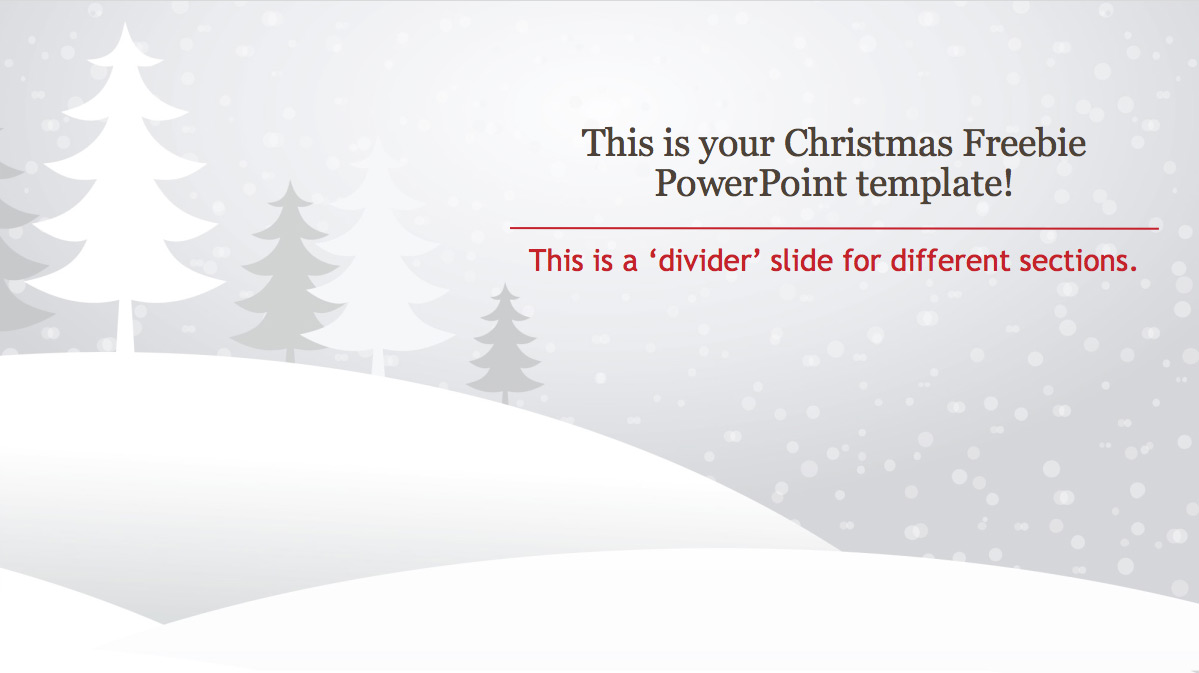 Powerpoint Template Christmas Freebie Powerpointpro